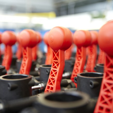 altek ball valves lined up for their next step in production at the altek factory