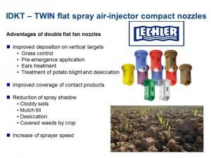 IDKT twin flat spray air-injector